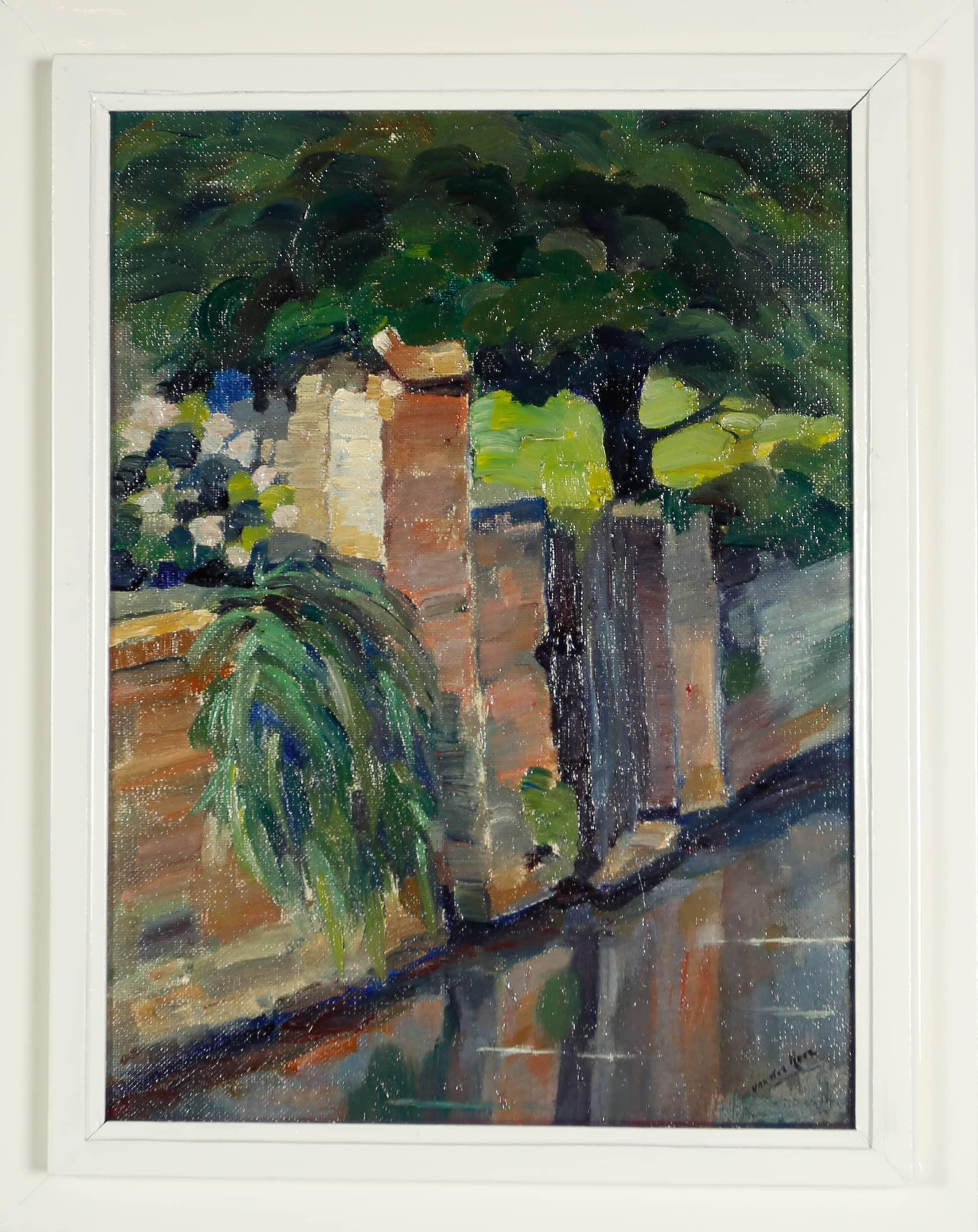 Beekrand Thorn - Maarten D.J. van der Meer - 1960, olieverf op board, 38,5 x 28,5 cm